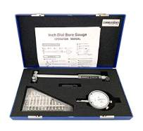 Accusize Industrial Tools 2-6 inch by 0.0001'' Dial Bore Gauge Set, 6'' Stem Length, Ee20-1006