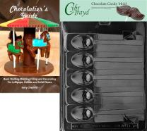 Cybrtrayd Bk-D074 Mocha Spoon Dads and Moms Chocolate Candy Mold with Chocolatier's Guide Instructions Book Manual