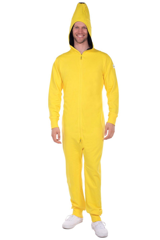 Tipsy Elves Men's Banana Halloween Costume - Banana Jumpsuit