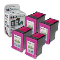 LD Remanufactured Ink Cartridge Replacement for HP 60XL CC644WN High Yield (Color, 4-Pack)