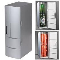 Mini PC USB Cooler & Warmer, HQF Portable USB Beer Beverage Drink Cans Fridge Cans Cooler Warmer for Cold/Hot Beverage Drinks (Silver, Bigger Size)
