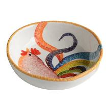 """Colorful Rooster Small Soup Bowl 