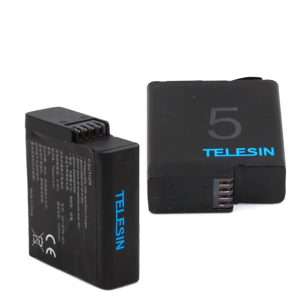 TELESIN Rechargeable Battery Replacement for GoPro Hero,Hero 2018/ Hero 5/ Hero 6 Black Action Camera ( Pack of 2 )