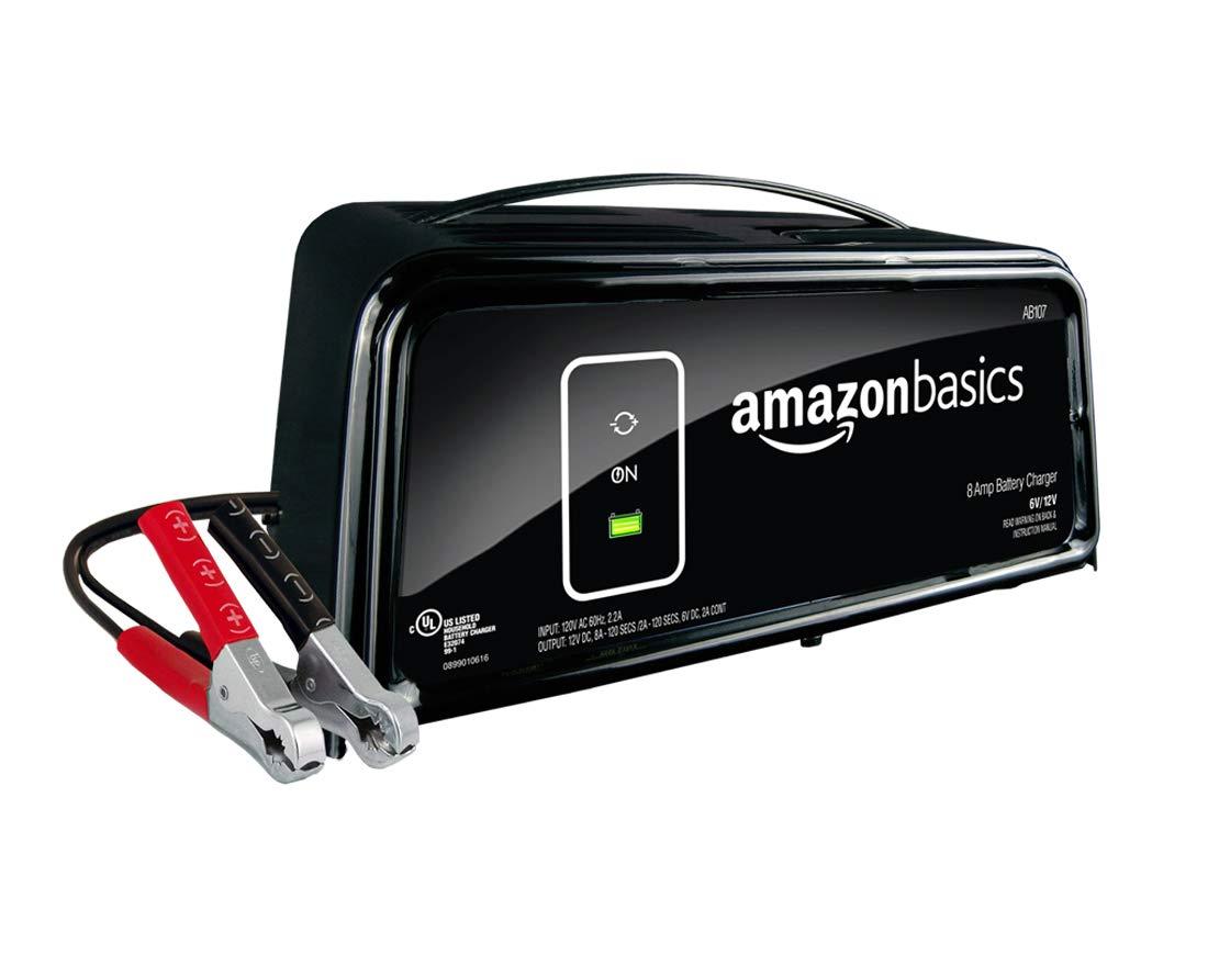AmazonBasics Battery Charger 12 Volt 8/2A