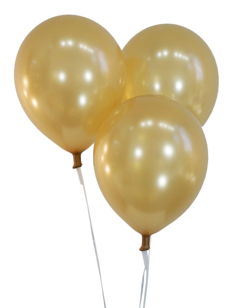 """Creative Balloons 12"""" Latex Balloons - Pack of 100 Pieces - Metallic Gold"""