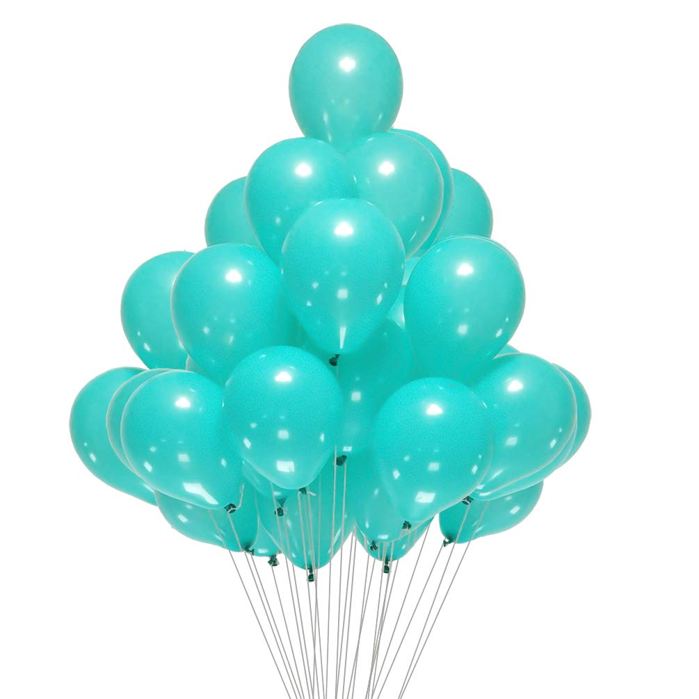 AZOWA Teal Balloons 5 inch Pack of 200 Small Party Balloon