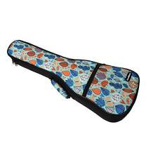 CLOUDMUSIC Cute Ukulele Case Green Ukulele Backpack for Kids Ukulele (Soprano, Forest Leaves Birds Butterfly)
