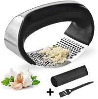 EveryNeeds Garlic Press With Peeler Garlic Press Cleaning Brush