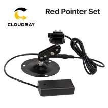 Cloudray Diode Module Red Point Set Red Pointer + Red Pointer Base + Battery Case 650nm 10mm Positioning DC 5V for DIY Co2 Laser Head