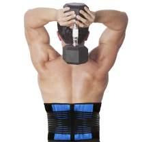 """CROSS1946 Adjustable Lumbar Brace Belt-Lower Back Support Belt for Back Waist Pain & Waist Exercise for Women & Men Under Clothes-Waist 24""""-43"""""""