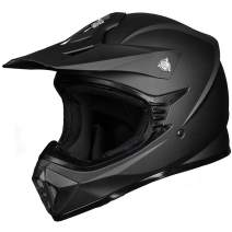 ILM Youth Kids ATV Motocross Dirt Bike Motorcycle BMX MX Downhill Off-Road MTB Mountain Bike Helmet DOT Approved (Matte Black, Youth-L)
