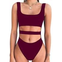 MiXiaoJie Women's Sexy Bodysuits Tank Top Sleeveless Backless Swimsuit Leotard Top Summer