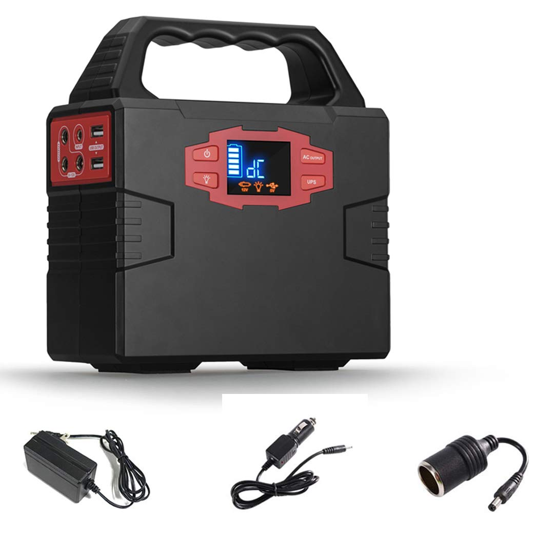 COOLIS 150Wh Portable Power Inverter Generator Power Station, Power Supply Source with Silent 110V AC / 12V DC / 5V USB Output, 40800mAh Lithium Battery
