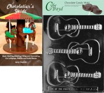 Cybrtrayd Bk-J065 Guitar Chocolate Candy Mold with Chocolatier's Guide Instructions Book Manual
