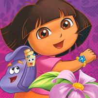 American Greetings Dora The Explorer Lunch Napkins Party Supplies (16 Count)