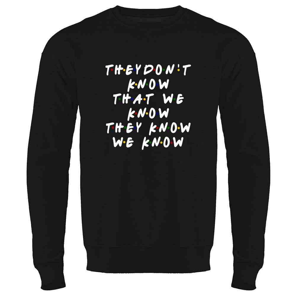 Pop Threads How You Doin Best Friends Funny Retro 90s Cute Crewneck Sweatshirt for Men
