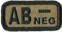 """Tactical Blood Type Patches -""""Type AB Negative"""" - 2""""x1"""""""