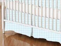 SheetWorld - Crib Skirt (28 x 52) - Solid Aqua Woven - Made In USA