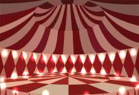 Baocicco 10x6.5ft Circus Backdrop Circus Tent Interior View Backdrop Inner Circus Stage Backdrop Happy Birthday Photography Background Baby Boy Girl Children Birthday Party Photo Booth Photo Props