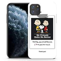 Shellstyle Fashion Cute iPhone Cases Compatible with iPhone 11Pro (5.8 inch) 2019, Luxury Flexible Gel Case with Whole Edge Protection (Friends Wish White, iPhone 11 Pro (5.8 inch))