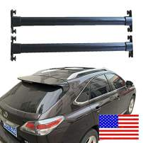 ROSY PIXEL Roof Rock Cross Bars for 2010-2015 Lexus RX350 RX450H Black