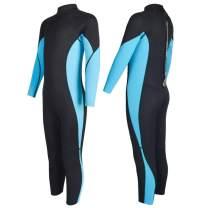 Nataly Osmann Kids Wetsuit Neoprene 2.5mm Long/Short Sleeve One Piece Full Diving Suit UV Protection Swimsuit for Boys Girls