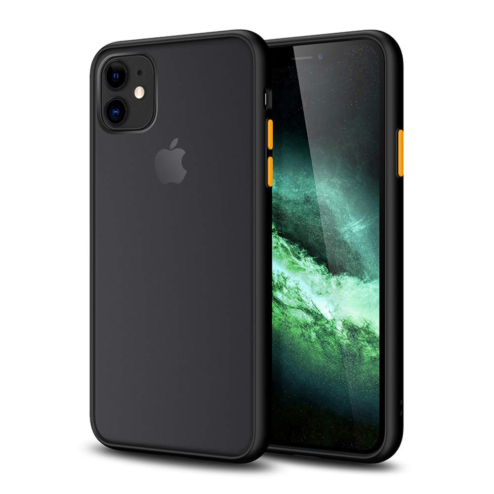 SHIWELY Matte iPhone 11 Case, Translucent Shockproof and Anti-Drop Protection Case with Soft Edges for iPhone 11 (Black)