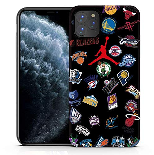 Shellstyle Fashion Cute iPhone Cases Compatible with iPhone 11 Pro Max (6.5 inch Screen) 2019, Luxury Flexible Gel Case with Whole Edge Protection (Jordon x NBA, iPhone 11 Pro Max 6.5 Inch)
