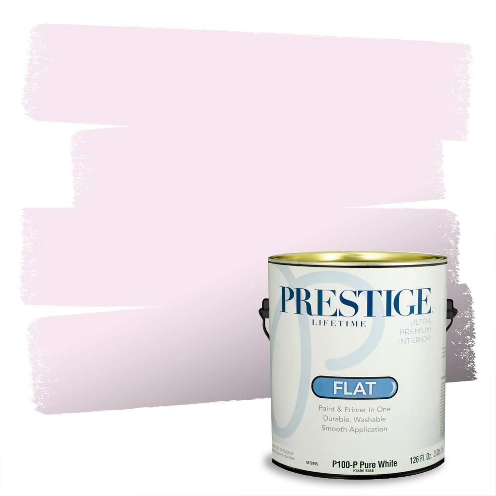 PRESTIGE Interior Paint and Primer in One, 1-Gallon, Flat, Strawberry Milk