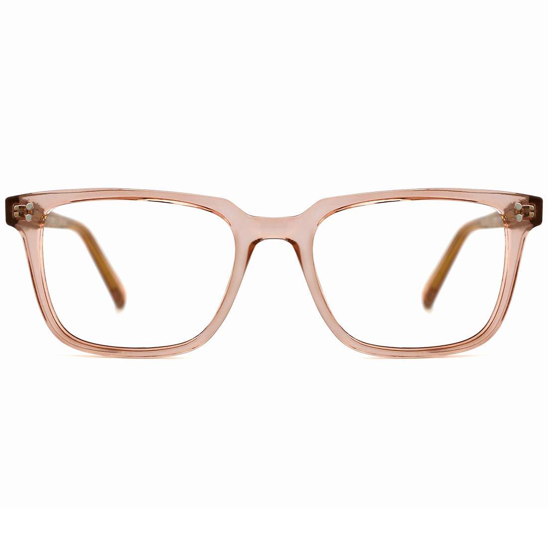 TIJN Blue Light Filter Computer Glasses for Blocking UV Harmful Rays Retro Eyeglasses for Women Men
