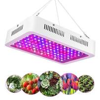 1200W LED Plant Grow Light, High Power Full Spectrum Double Chips Plant Lamp for Indoor Plants Veg and Flower with Red Blue White UV IR for Garden Greenhouse Seeding Hydroponic, 120LEDs 100-240V