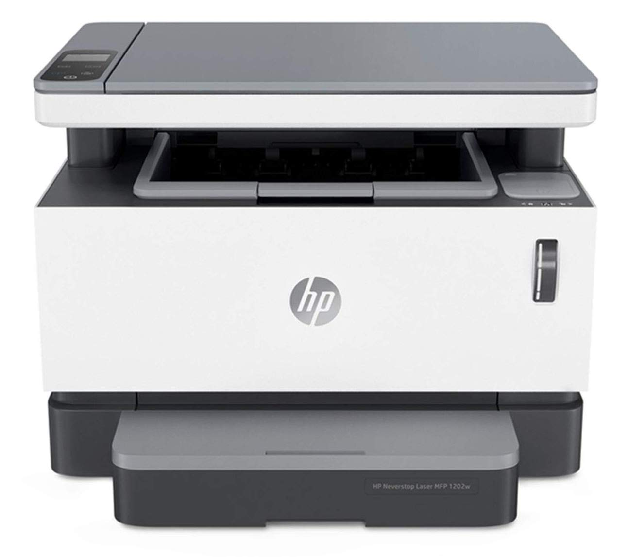 HP Neverstop All-in-One Laser Printer 1202w | Wireless Laser with Cartridge-Free Monochrome Toner Tank (5HG82A) (5HG92A#BGJ), White, Standard