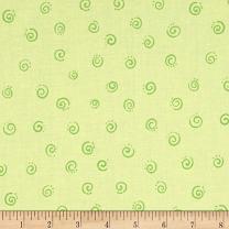 Hamil Textiles Susybee Squiggle, Green