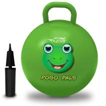 Flybar My First Pogo Pals Hopper Ball for Kids, Bouncy Ball with Handle, Balance Ball for Kids, Indoor and Outdoor Toy, Pump Included