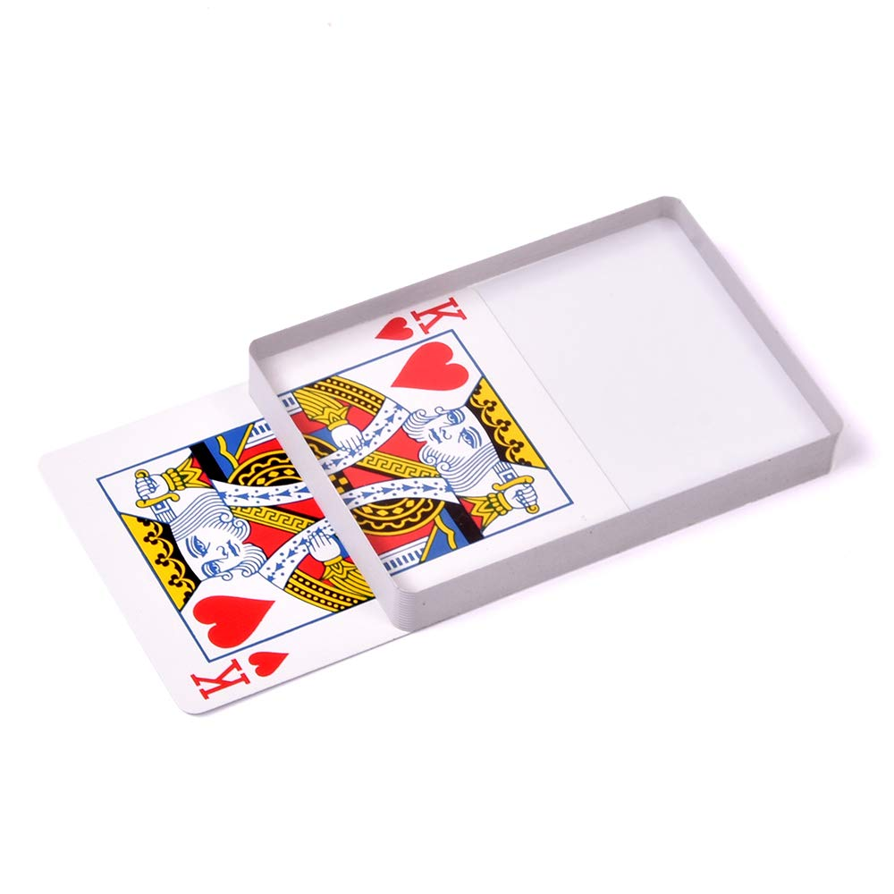 SUMAG Deck Glass Card Omni Deck Ice Bound (Poker size)Magic Tricks, Cards magic Props, Close-up Magic Accessories, Magic Gimmick Signed Card to Top of Deck Magic