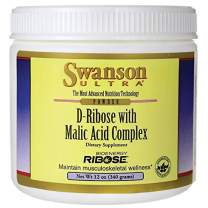 Swanson D-Ribose with Malic Acid Complex Powder 12 Ounce (340 g) Pwdr