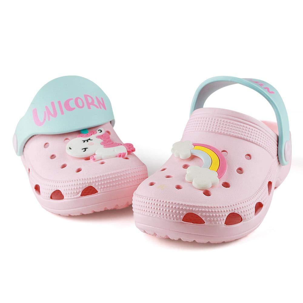 Toddler Boys & Girls Beach/Pool Unicorn Clogs Sandals | Kids Water Shoes |Summer Beach Slides
