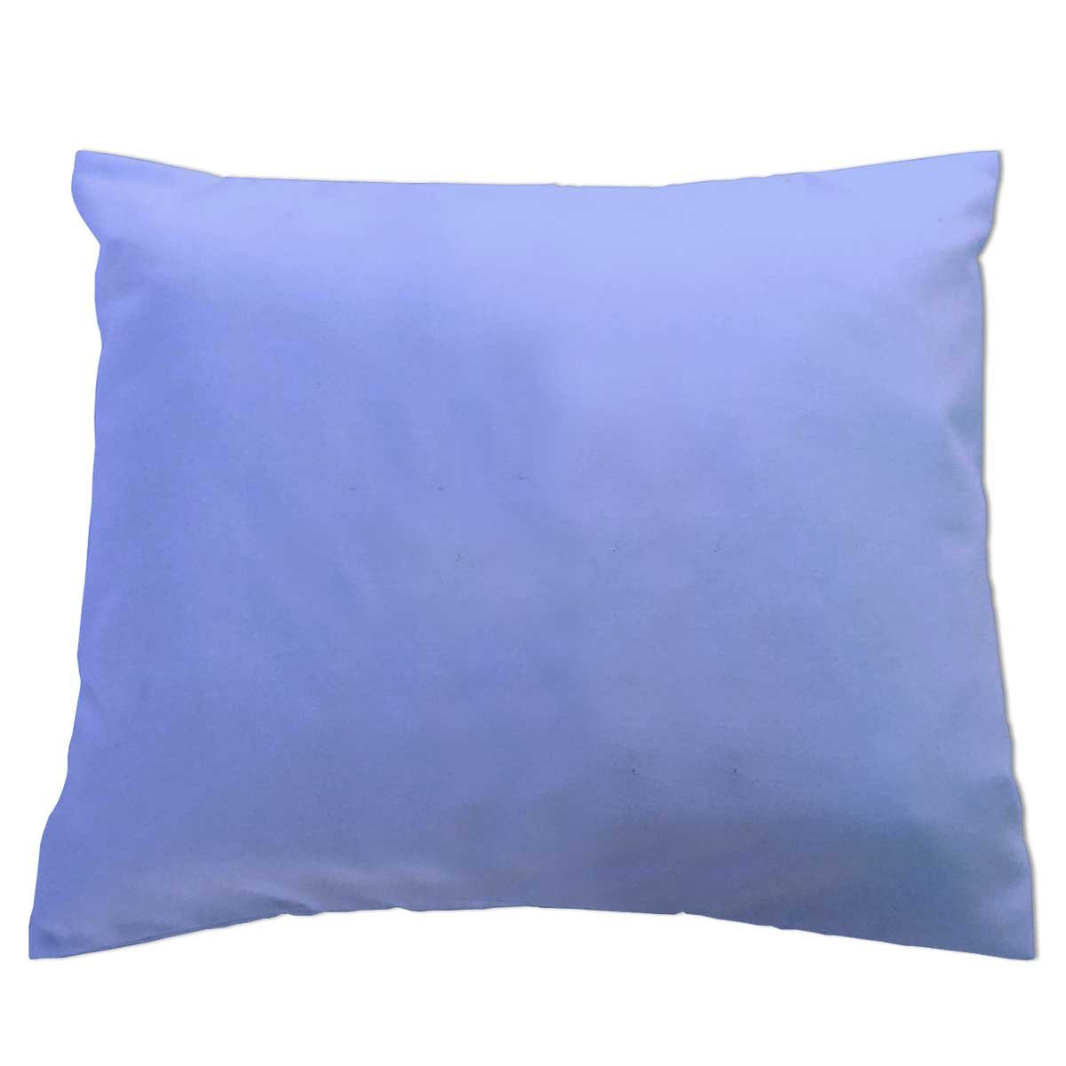 SheetWorld - Baby Pillow Case - Percale Pillow Case - Light Solids - Baby Blue - Made In USA