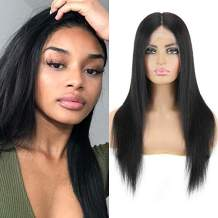 Panse Hair Peruvian Straight Human Hair Wigs for Black Women 13x6 T-Part Lace Front Human Hair Wigs 150% Density Glueless Straight Lace Front Wigs (22 Inch,Natural Color)