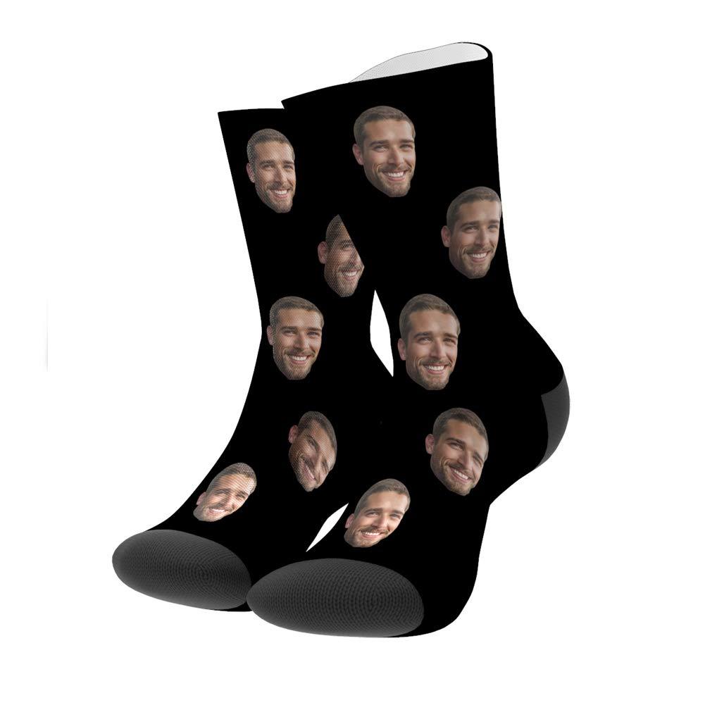 Custom Face Socks Multiple Faces Personalized Your Photo on Socks for Men Women