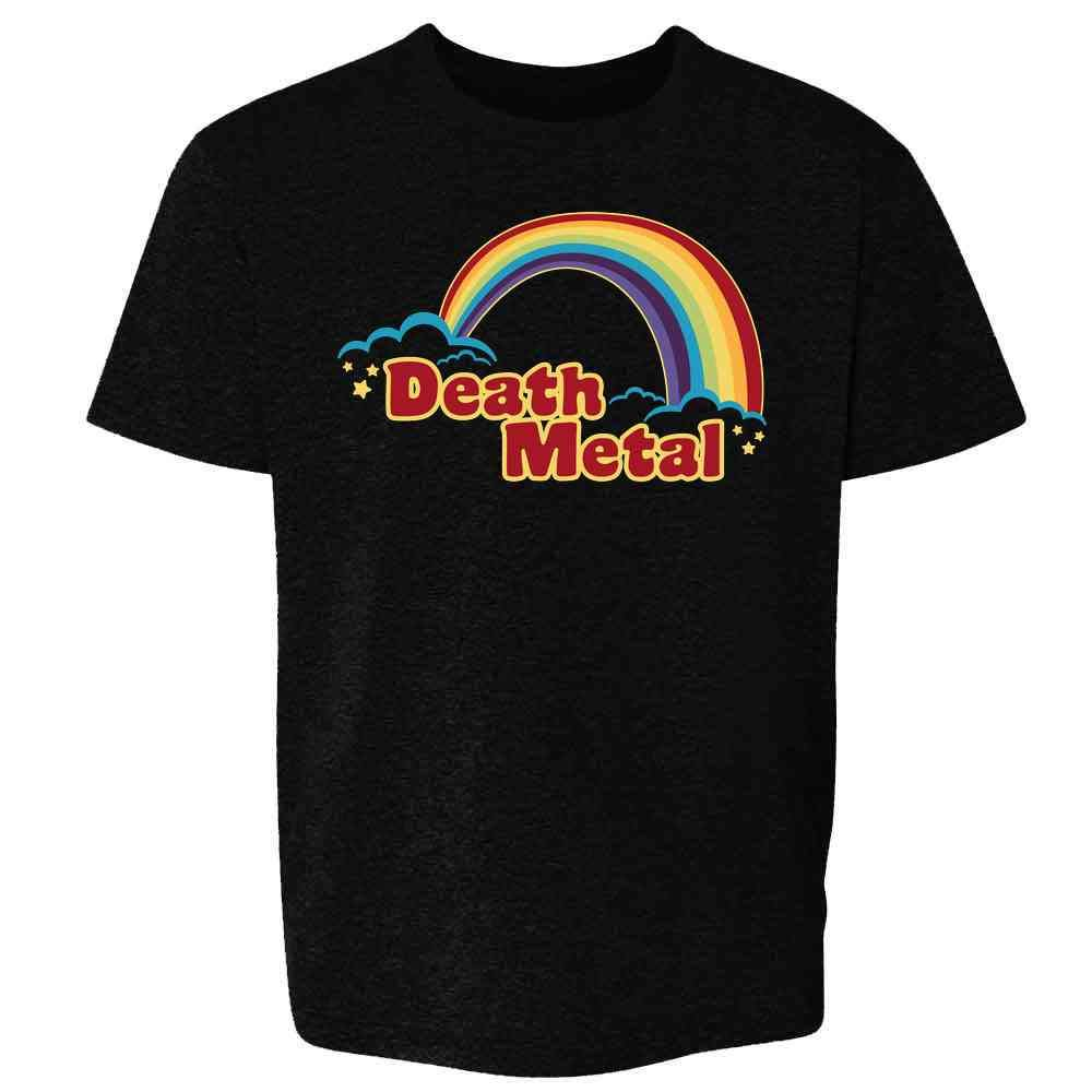 Death Metal Retro Rainbow 70s 80s Sarcastic Toddler Kids Girl Boy T-Shirt