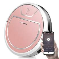 MOLISU V8S Pro Robot Vacuum Cleaner with 2000pa Strong Suction, Sweeping and Mopping,APP Remote Control and Self-Charging, Great for Pet Hair, All Kinds of Floors and Thin Carpets - Pink