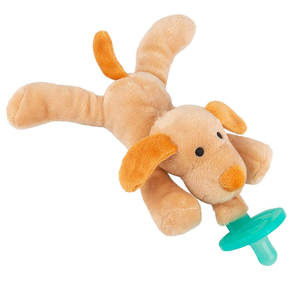 BabyLUV's - Stuffed Animal Pacifier Holder   Baby Pacifier, Newborn Dog Gifts   Stuffed Dog   Newborn Toys   Teething Toys   Soothie Pacifier   Dog Plush Toy  Baby Toy
