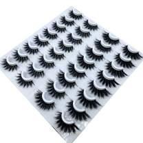 NEW 16 pairs 8-25mm fake Eyelashes 100% Mink Eyelashes Mink Lashes Natural Dramatic Volume Eyelashes Extension False Eyelashes (3DF010)