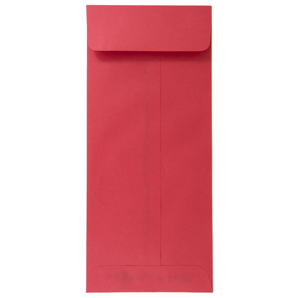 JAM PAPER #12 Policy Business Colored Envelopes - 4 3/4 x 11 - Red Recycled - 25/Pack