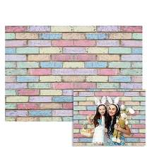 Funnytree Graffiti Colourful Brick Wall Backdrop for Photography Baby Shower Birthday Easter Party Background Retro Block Kids Portrait Photo Studio Props Decorations Banner 7x5ft