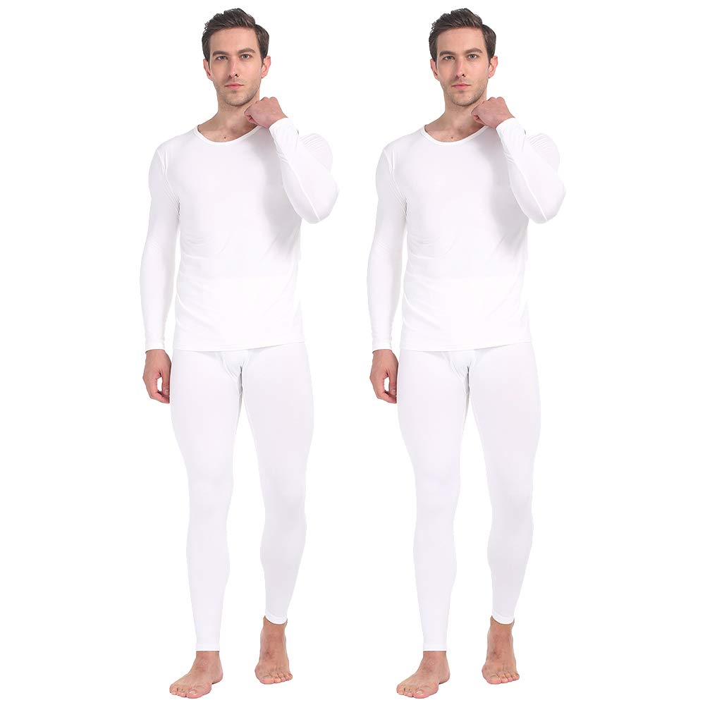 Boys Girls Thermal Underwear Set Fleece Lined Long Johns Soft Stretch Long Sleeve Compression Shirts Sports Base Layer