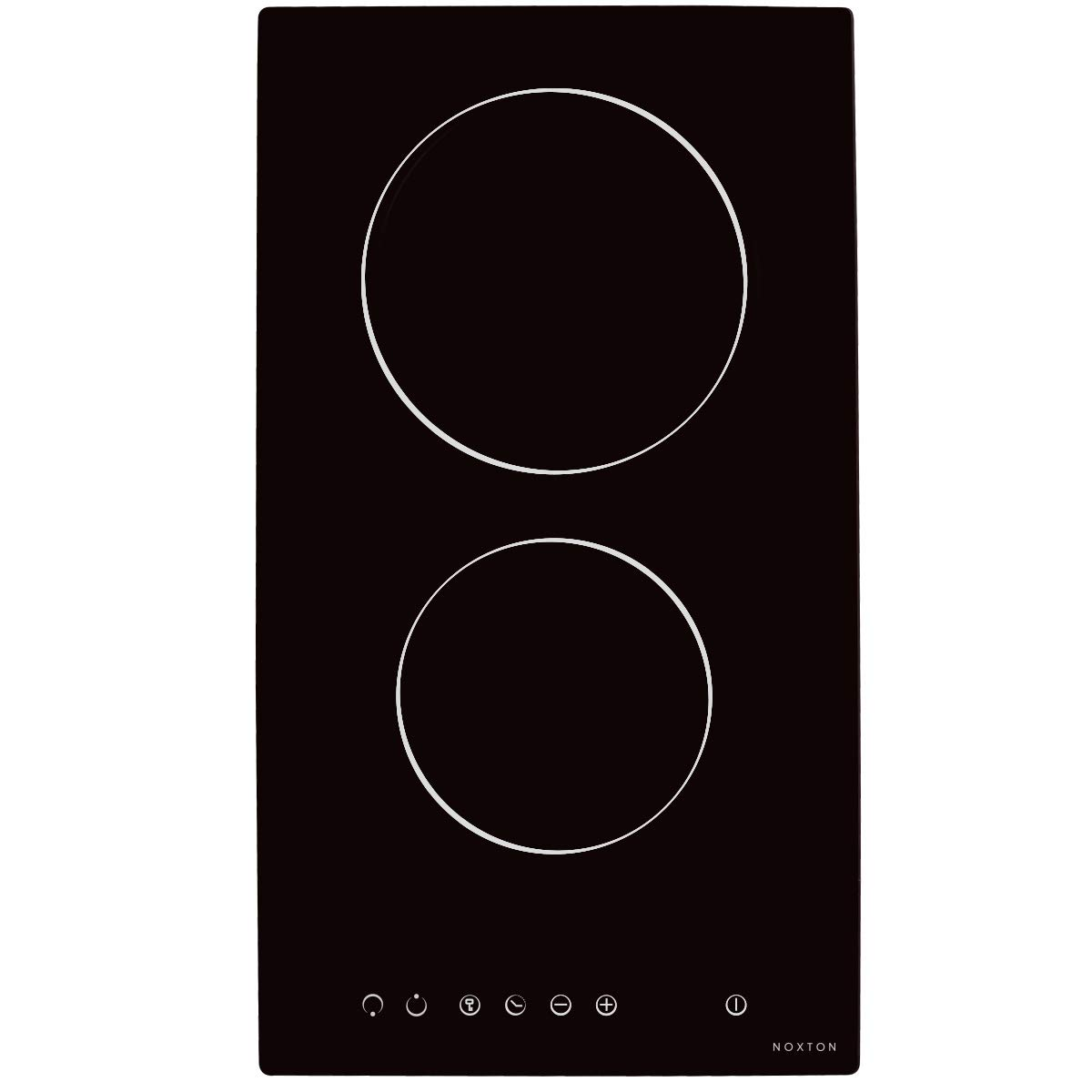 NOXTON Ceramic Cooktop Built-in 2 Burners Electric Cooktops Stove Electric Hob Cooker With Touch Control Child Lock Timer Easy To Clean 3000W with Hard Wire for 220V~240V