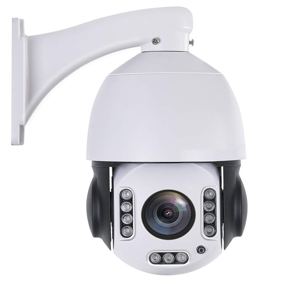 """Outdoor 20X PTZ POE+ Security Camera 4.5"""" WiFi Wireless 5MP/2MP Home Surveillance Outdoor Camera Pan 360° Tilt 95° 2 Way Audio Humanoid Auto Tracking Dome Camera with 64GB SD Card Phone APP to View"""