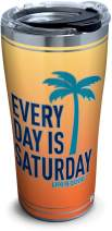 Tervis 1314685 Life is Good - Every Day Saturday Stainless Steel Insulated Tumbler with Lid, 20 oz, Silver